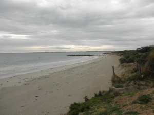 Looking along the Town Beach